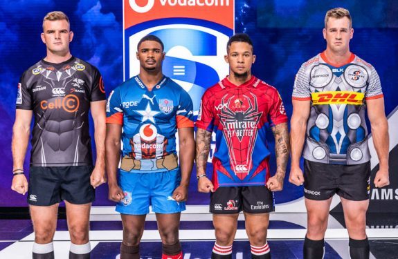 El equipo sudafricano de Super Rugby exhibe la camiseta Marvel 2020
